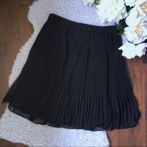 CK/ Calvin Klein Pleated Chiffon Skirt